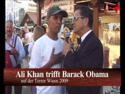 Ali KHan und Barack Obama auf der Terrorwiesn 2009